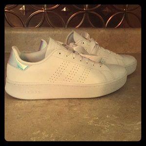 White, platform, Adidas